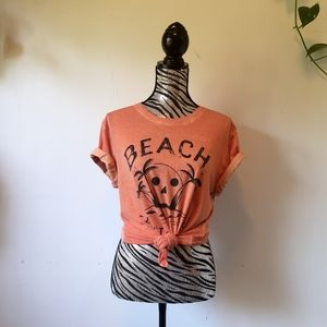 "Diesel ""Beach don't kill my vibe"" T-shirt"